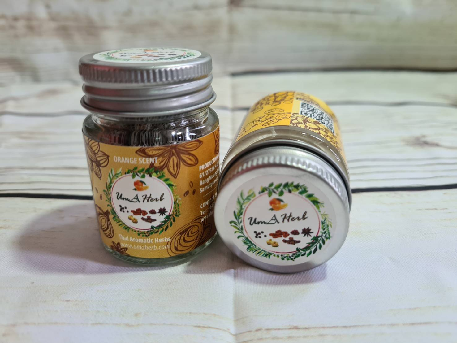 Uma Herb Thai Aromatic Herbs Orange Scent Inhaler Thai Herb Help To  Relax and Refresh Makes Breathing Easier