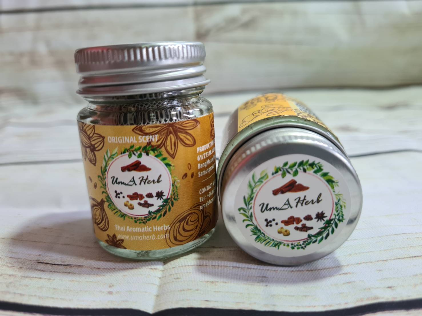 Uma Herb Thai Aromatic Herbs Original Scent Inhaler Thai Herb Help To  Relax and Refresh Makes Breathing Easier
