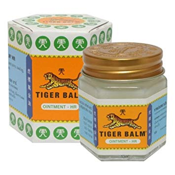 "<h3>Tiger Balm Ayurvedic Ointment, White, 30g Relief For Muscle Pains 100%Natural Balm </h3><p><img src=""https://images.accessories-product.com/imgProduct/UsHon-20181025154218724/UsHon-20181025154218724-20190421202352/UsHon-20181025154218724-20190421202352CLASSIC2.jpg"" id=""CLASSIC2.jpg"" style=""width: 1183px;"" class=""img-thumbnail""><br></p><h4><span style=""font-weight: bold;"">Product Descrition :</span></h4><p><br></p><p>Tiger Balm White Ointment 30g/Jar - Thailand Edition. The classic Tiger Balm ointment which many of us grew up with. It is often used for headache remedies. Count on this family favorite to soothe a variety of ailments like stuffy nose, flatulence and itch due to insect bites. Gently rub over the affected area to allow its herbal formulation to soothe headaches, stuffy nose and other discomforts quickly and effectively.</p><p><br></p><p><span style=""font-weight: bold;"">How to use it?</span></p><ul><li>Rub the ointment gently on affected parts of the skin (avoid eye contact) </li><li>Headache remedies </li><li>Relieves stuffy nose </li><li>flatulence and itch due to insect bites </li></ul><p><br></p><p>Fast acting pain-relief properties</p><p>Made from herbal ingredients</p><p><br></p><p><span style=""font-weight: bold;"">Ingredients : </span></p><p>Camphor 25.0%, Menthol 8.0%, Eucalyptus Oil 13.7%, Clove Oil 1.43%</p><p> <br></p>"