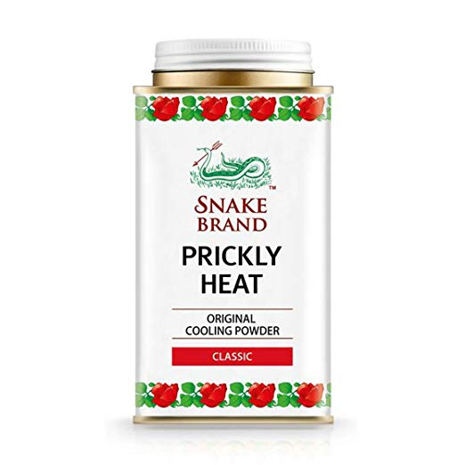 Prickly Heat Powder Snake Brand Classic Scent 140 Grams - Prickly heat, cool powder, heat rash, heat rash treatment