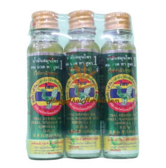 """<h2>Hong Thai Thai Herbal Oil For Smell and Massage Rub Formula 1 Size 20 CC</h2><p>  <img src=""""https://images.accessories-product.com/imgProduct/UsHon-20181025154218724/UsHon-20181025154218724-20210616130347/Wtmk_e81018d6-fe50-4838-b544-6b5f11c18df0.jpg"""" class=""""img-thumbnail"""" style=""""width: 50%;""""></p><p><br> </p><div><span style=""""font-weight: bold; font-size: 18px;"""">Product size</span><span style=""""font-size: 18px;""""> including packaging (WxDxH) 2.9x7.9x9.7 cm.</span></div><div><span style=""""font-size: 18px;""""><br></span></div><div><span style=""""font-weight: bold; font-size: 18px;"""">Weight </span><span style=""""font-size: 18px;"""">including packaging 0.2 kg.</span></div><div><span style=""""font-size: 18px;""""><br></span></div><div><span style=""""font-weight: bold; font-size: 18px;"""">Hong Thai Thai Herbal Oil For Smell and Massage Rub Formula 1 Size 20 CC Pack 3 bottles</span></div><div><span style=""""font-weight: bold; font-size: 18px;""""><br></span></div><div><span style=""""font-weight: bold; font-size: 18px;"""">Brand : </span><span style=""""font-size: 18px;"""">Hong Thai</span></div><div><span style=""""font-size: 18px;""""><br></span></div><div><br></div><div><span style=""""font-weight: bold; font-size: 18px;"""">Product shelf life: </span><span style=""""font-size: 18px;"""">3 years from the date of manufacture</span></div><div><span style=""""font-size: 18px;""""><br></span></div><div><br></div><div><span style=""""font-weight: bold; font-size: 18px;"""">FDA No. :</span><span style=""""font-size: 18px;""""> 1016010014649</span></div><div><span style=""""font-size: 18px;""""><br></span></div><div><br></div><div><span style=""""font-weight: bold; font-size: 18px;"""">Product in the box :</span><span style=""""font-size: 18px;""""> Hong Thai Thai Herbal Oil For Smell and Massage Rub Formula 1 Size 20 CC Pack of 3 bottles.</span></div><div><span style=""""font-size: 18px;""""><br></span></div><div><br></div><div><span style=""""font-weight: bold; font-size: 18px;"""">ingredient</span></div><div><br></div><div><span style=""""font-size: 18px;"""">- 25 grams of Ment"""