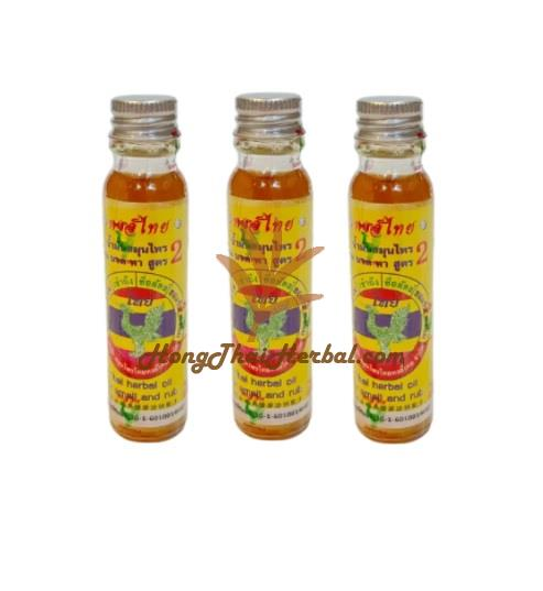 """<h2>Hong Thai Thai Herbal Oil Formula 2 For Smell And Rub 20 CC ( 3 Bottles)</h2><h2><img src=""""https://images.accessories-product.com/imgProduct/UsHon-20181025154218724/UsHon-20181025154218724-20210616161156/Wtmk_772c725f-c532-4085-a4b2-50d2ae93dba1.jpg"""" class=""""img-thumbnail""""></h2><h2><br></h2><h2><div style=""""font-size: 14px;""""><span style=""""font-weight: bold; font-size: 18px;"""">Product size</span><span style=""""font-size: 18px;"""">including packaging (WxDxH)</span><span style=""""font-size: 18px;"""">2.9x7.9x9.7</span><span style=""""font-size: 18px;"""">cm.</span></div><div style=""""font-size: 14px;""""><span style=""""font-size: 18px;""""><br></span></div><div style=""""font-size: 14px;""""><span style=""""font-weight: bold; font-size: 18px;"""">Weight</span><span style=""""font-size: 18px;"""">including packaging 0.13 kg.</span></div><div style=""""font-size: 14px;""""><span style=""""font-size: 18px;""""><br></span></div><div style=""""""""><span style=""""font-size: 18px; font-weight: 700;"""">Hong Thai Thai Herbal Oil Formula 2 For Smell And Rub 20 CC</span><br></div><div style=""""font-size: 14px;""""><span style=""""font-weight: bold; font-size: 18px;""""><br></span></div><div style=""""font-size: 14px;""""><span style=""""font-weight: bold; font-size: 18px;"""">Brand :</span><span style=""""font-size: 18px;"""">Hong Thai</span></div><div style=""""font-size: 14px;""""><span style=""""font-size: 18px;""""><br></span></div></h2><h2><span style=""""font-weight: bold; font-size: 18px;"""">Properties :</span><span style=""""font-size: 18px;"""">Sniff for refreshing,blood circulation,giddy,faint,dizzy. Rub on painful parts of body.</span></h2><h2><div style=""""font-size: 14px;""""></div><div style=""""font-size: 14px;""""><br></div><div style=""""font-size: 14px;""""><span style=""""font-weight: bold; font-size: 18px;"""">Product shelf life:</span><span style=""""font-size: 18px;"""">3 years from the date of manufacture</span></div><div style=""""font-size: 14px;""""><span style=""""font-size: 18px;""""><br></span></div><div style=""""font-size: 14px;""""><br></div><div style=""""font-size: 14px;""""><span style=""""font-weight: bold; font-"""