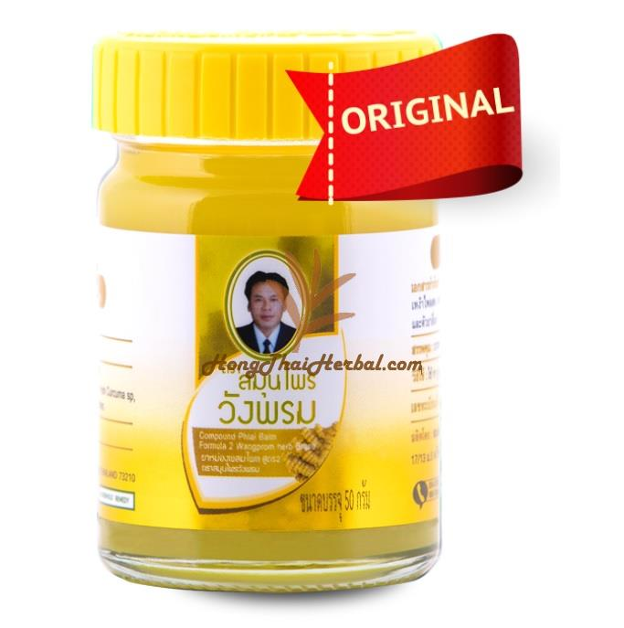 """<h2>Wangphrom Yellow Balm size 50 grams Plai Thai Herb Balm For relief of muscle aches,pains and sprains</h2><h2><p><img src=""""https://images.accessories-product.com/imgProduct/UsHon-20181025154218724/UsHon-20181025154218724-20210617125158/Wtmk_0759c120-dd3d-4d46-a883-7f71eb466c12.jpg"""" class=""""img-thumbnail"""" style=""""width: 25%;""""><br></p><p><span style=""""font-size: 18px;"""">Zingiber Cassumunar (Cool Effect)</span></p><p><span style=""""font-size: 18px;"""">WangPhrom original herb balm is used for effective symptomatic relief of muscular aches, pains, sprains, insect bites, burns, itchiness and lumbago. For the relief of motion sickness, vertigo, nasal decongestant.</span></p><p><span style=""""font-size: 18px;"""">Has a good fresh smell and you can use it as an inhalator for nausea or rub the balm on your temples for a headache.</span></p></h2><h2></h2><h2><p><span style=""""font-size: 18px;""""><span style=""""font-weight: bold;"""">Indication :</span></span></p></h2><h2></h2><h2 style=""""box-sizing: border-box; outline: 0px !important; font-family: Rubik, sans-serif; font-weight: 300; line-height: 36px; color: rgb(49, 49, 49); margin: 10px 0px; font-size: 24px; -webkit-font-smoothing: antialiased; font-style: normal; font-variant-ligatures: normal; font-variant-caps: normal; letter-spacing: normal; orphans: 2; text-align: start; text-indent: 0px; text-transform: none; white-space: normal; widows: 2; word-spacing: 0px; -webkit-text-stroke-width: 0px; text-decoration-thickness: initial; text-decoration-style: initial; text-decoration-color: initial;""""></h2><h2 style=""""box-sizing: border-box; outline: 0px !important; font-family: Rubik, sans-serif; font-weight: 300; line-height: 36px; color: rgb(49, 49, 49); margin: 10px 0px; font-size: 24px; -webkit-font-smoothing: antialiased; font-style: normal; font-variant-ligatures: normal; font-variant-caps: normal; letter-spacing: normal; orphans: 2; text-align: start; text-indent: 0px; text-transform: none; white-space: normal; widows: 2; word-spacing: 0px; -"""